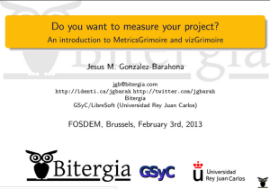 Do you want to measure your project? [slides]