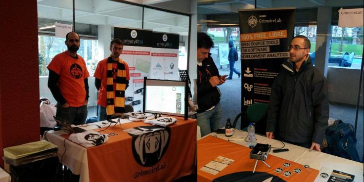 Our Bitergian booth during and after FOSDEM